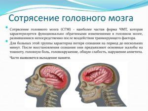 Сотрясения головного мозга: последствия и их предупреждение