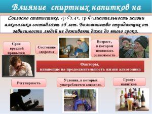 Влияние алкоголя на здоровье человека и его продолжительность жизни