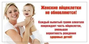 Влияние алкоголя на яйцеклетки: здоровые дети