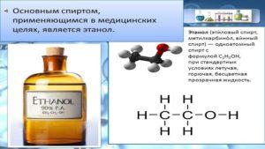 Спирт медицинский, состав этилового спирта