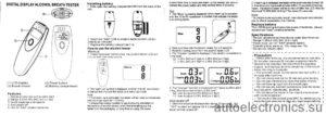 Алкотестер инструкция по применению (фото и видео)