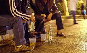 Распитие пива в общественных местах